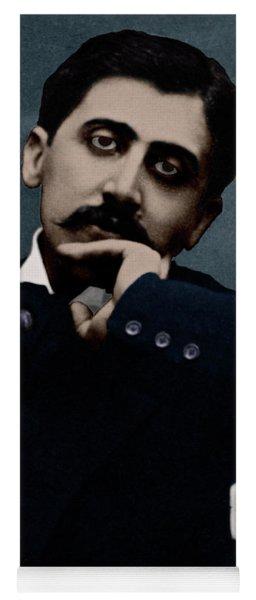 Colorized Portrait Of Proust Yoga Mat