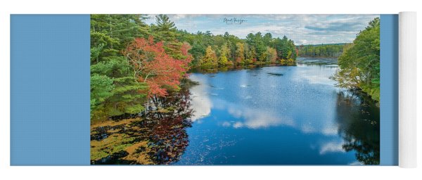 Yoga Mat featuring the photograph Colors Of Cady Pond by Michael Hughes