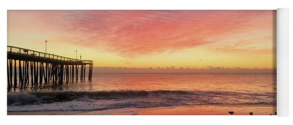 Yoga Mat featuring the photograph Colors Of Dawn by Robert Banach