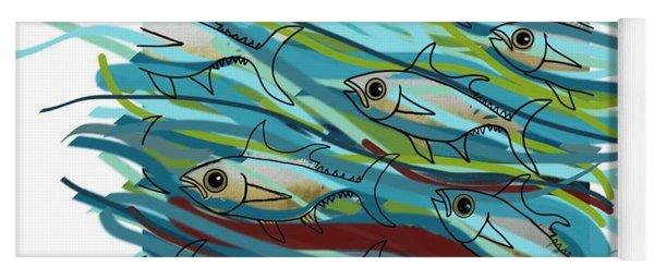 Coloured Water Fish - Digital Change 2 Yoga Mat