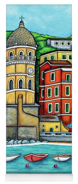 Colours Of Vernazza Yoga Mat