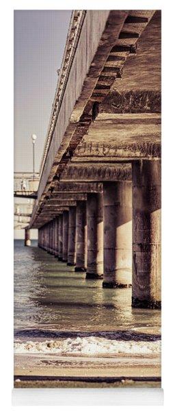 Columns Of Pier In Burgas Yoga Mat
