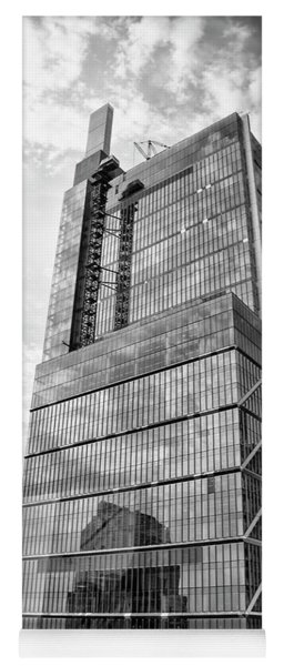 Yoga Mat featuring the photograph Comcast Technology Center - Philadelphia In Black And White by Bill Cannon