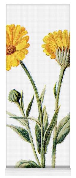 Common Marigold Flower Yoga Mat