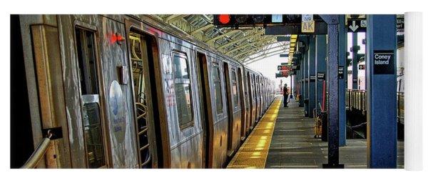 Coney Island Subway Train Station Yoga Mat