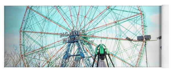 Coney Island Wonder Wheel Ny Yoga Mat