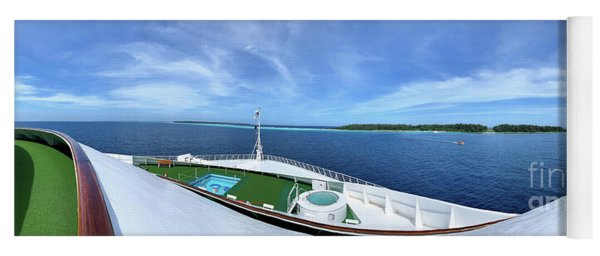 Conflict Islands Papua New Guinea View From Bow Of Ship Yoga Mat
