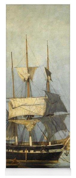 Constantinos Volanakis 1837-1907   Greek Ship Yoga Mat