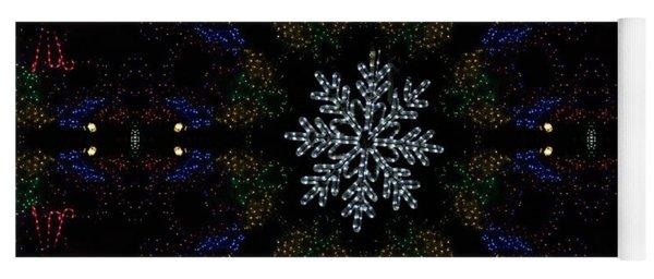 Continuous Christmas Lights Yoga Mat