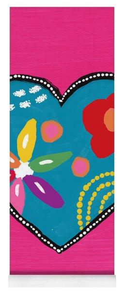 Corazon 2- Art By Linda Woods Yoga Mat
