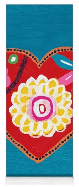 Corazon 3- Art By Linda Woods Yoga Mat
