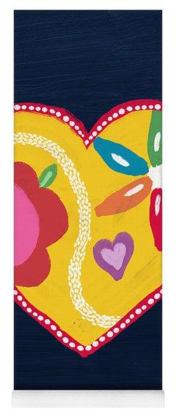 Corazon 4- Art By Linda Woods Yoga Mat