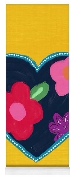 Corazon 5- Art By Linda Woods Yoga Mat