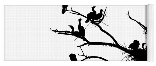 Cormorant's In Silhouette Yoga Mat