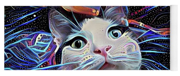 Cosmic Merlin The Wizard Cat Yoga Mat