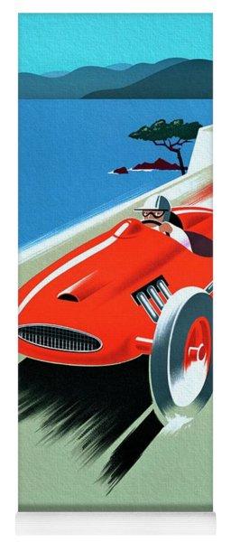 Cote D Azur, French Rivera Vintage Racing Poster Yoga Mat