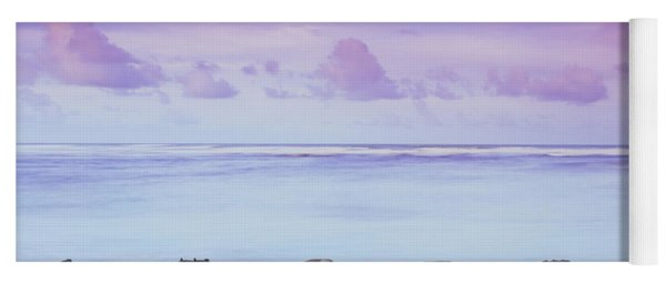 Cotton Candy Skies Over The Sea Yoga Mat