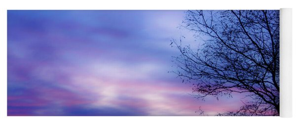 Cotton Candy Sunset In October Yoga Mat