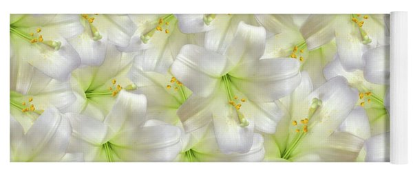 Yoga Mat featuring the photograph Cotton Seed Lilies by Rockin Docks