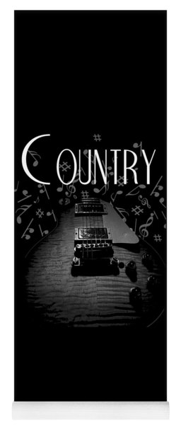 Country Music Guitar Music Yoga Mat