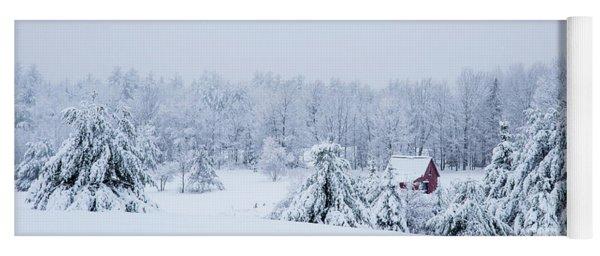 County Winter Scene  Yoga Mat