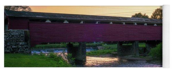 Covered Bridge Sunset Yoga Mat