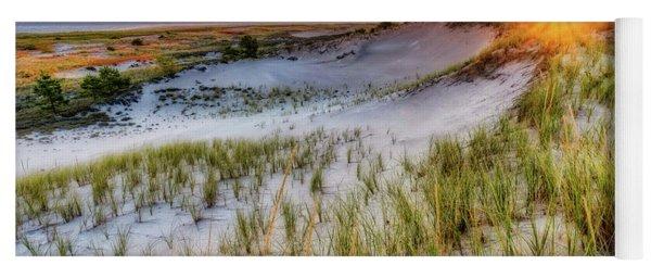 Crane Beach, Dune Grass Sunrise  Yoga Mat