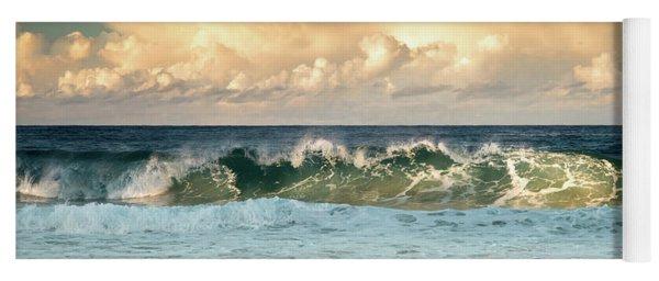 Crashing Waves And Cloudy Sky Yoga Mat