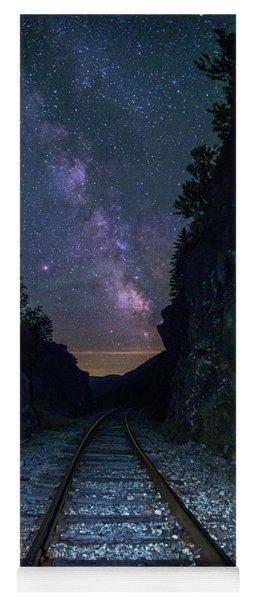Crawford Notch Milky Way Tracks Yoga Mat