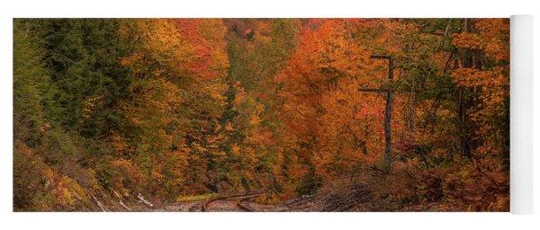 Crawford Notch Scenic Railway Autumn Yoga Mat