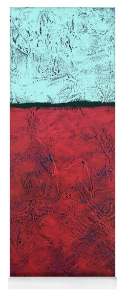 Crimson Earth Meets Pearl Sky Yoga Mat