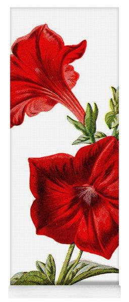 Crimson Petunia Flower Yoga Mat