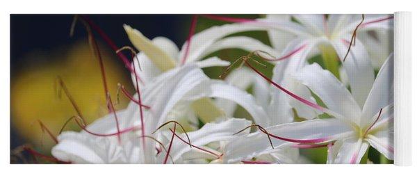 Crinum Lily Closeup Yoga Mat