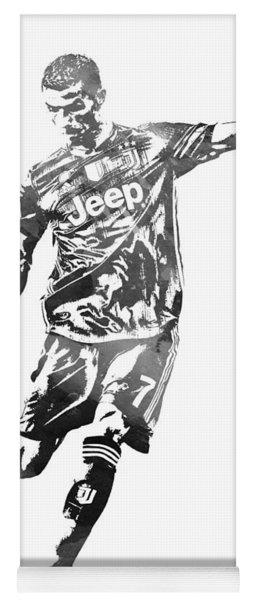 Cristiano Ronaldo Juventus Water Color Pixel Art 2 Yoga Mat