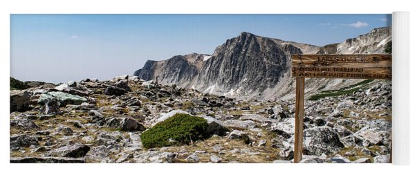 Yoga Mat featuring the photograph Crossroads At Medicine Bow Peak by Nicole Lloyd