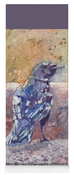 Yoga Mat featuring the painting Crow by Ruth Kamenev