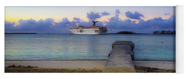 Yoga Mat featuring the photograph Cruise Ship Bahamas by Mark Duehmig