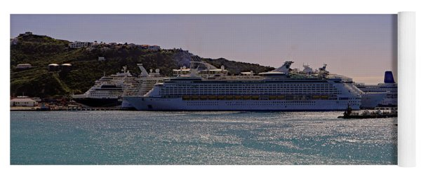 Yoga Mat featuring the photograph Cruise Ships by Tony Murtagh