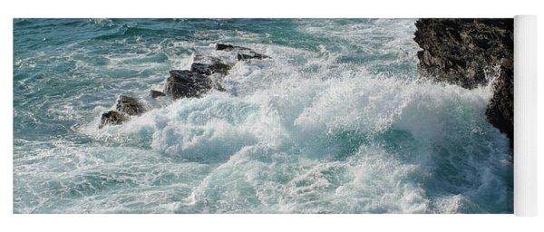 Crushing Waves In Porto Covo Yoga Mat