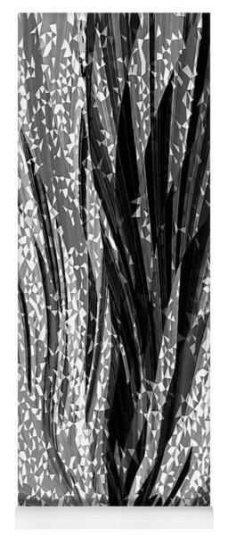 Crystal Floral Black Opposite Yoga Mat