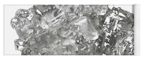 Cubic Salt Crystal Aggregate  Yoga Mat
