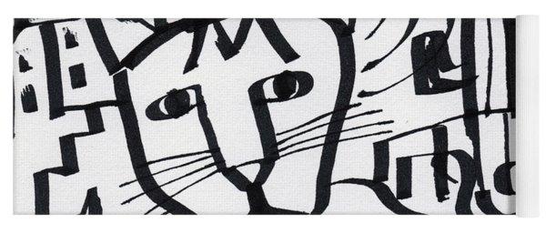 Curious Cat -art By Linda Woods Yoga Mat