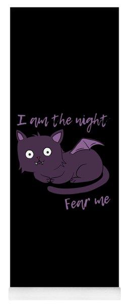 Cute Halloween Cat I Am The Night Fear Me Yoga Mat