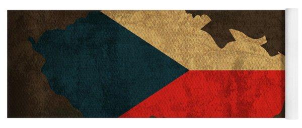 Czech Republic Country Flag Map Yoga Mat