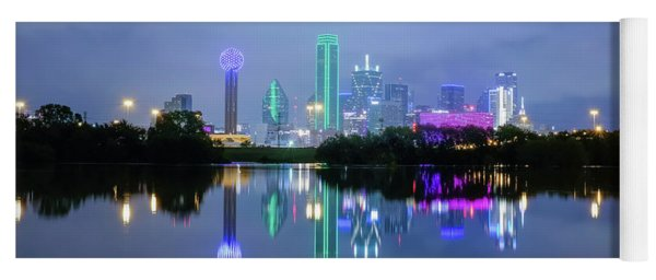 Dallas Cityscape Reflection Yoga Mat
