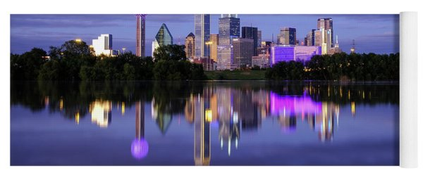 Yoga Mat featuring the photograph Dallas Cityscape by Robert Bellomy