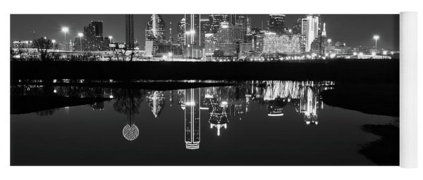 Dallas Texas Cityscape Reflection Yoga Mat