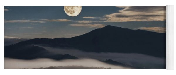 Dance Of Clouds And Moon Yoga Mat