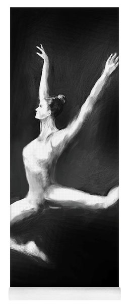 Dancer In Black And White Yoga Mat