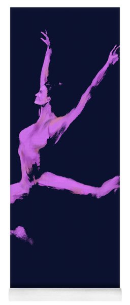 Dancer In The Dark Blue Yoga Mat